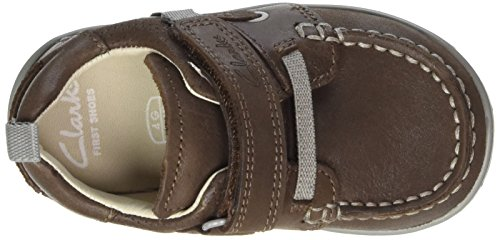 Clarks Baby Jungen Softlyboat Fst Lauflernschuhe Braun (Brown Leather)