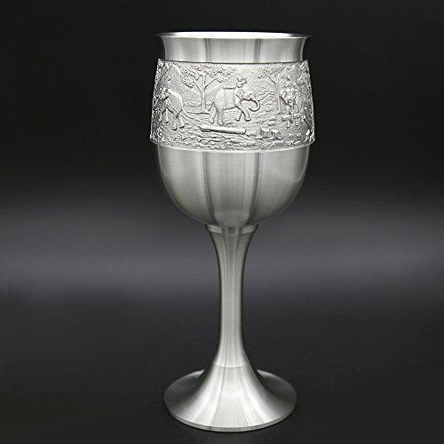 Oriental Zinn–Whisky Goblet Zinn reinem Zinn 97% bleifreies G3L handgeschnitzt Beautiful geprägt handgefertigt in Thailand