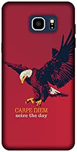 The Racoon Lean printed designer hard back mobile phone case cover for Samsung Galaxy Note 5. (Carpe Diem)
