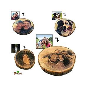 FOTO auf BAUMSCHEIBE Druck auf Holz Bild Geschenk Idee Geburtstag Jubileum Hölzerne Hochzeit Valentinstag Vintage Hochzeit Bilderrahmen Gastgeschenk