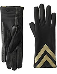 0bd2e049e isotoner Women's Spandex Touchscreen Cold Weather Gloves with Warm Fleece  Lining and Chevron Details