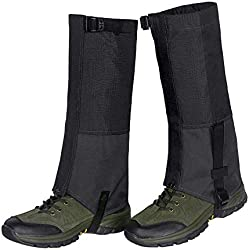 Unigear Polainas Impermeable 1 Par Prueba De Viento Nieve Lluvia Protección para Las Piernas para Montaña Senderismo Caza Esquí Escalada Guardia Anticorte Transpirable (Negro, M)