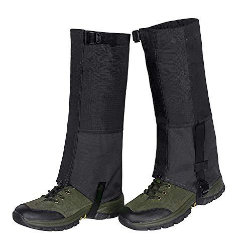 Unigear Outdoor Gamaschen,Wasserdichte Atmungsaktive Bein Gamaschen für zum Wandern, Klettern und Schneewandern Jagd 1 Paar (Schwarz XL)