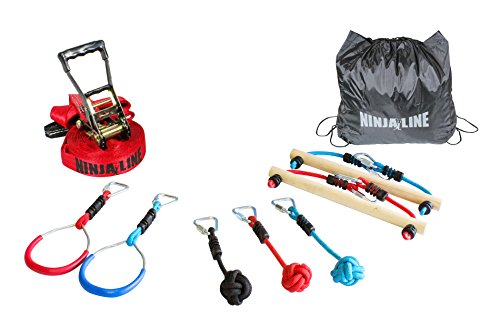 (SLACKERS USA Ninja Line Starter Set, Blau, One Size)