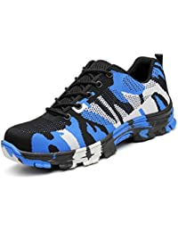 Zapatos Trabajo Hombre Zapatillas de Seguridad Puntera de Acero Mujer Botas Proteccion Excursionismo Caminar Sneakers Antideslizante