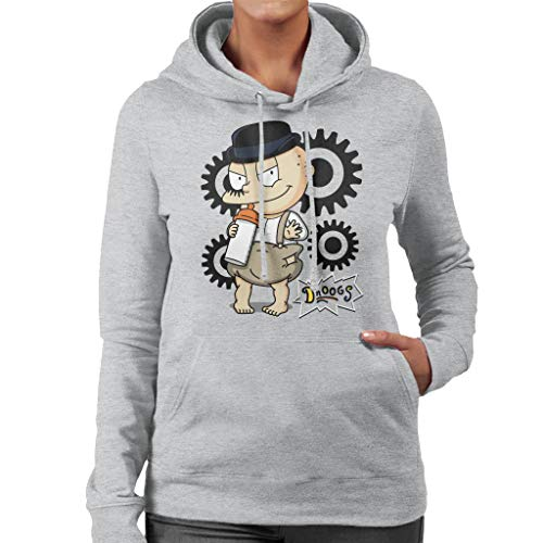 Droogs Tommy Rugrats A Clockwork Orange Women's Hooded Sweatshirt (Nickelodeon-spiele S)