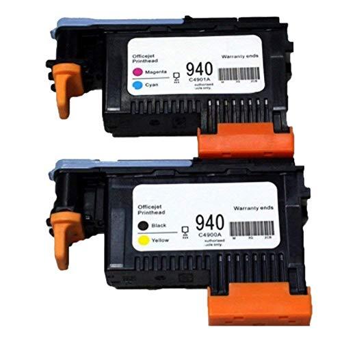 Teng® 2 x Druckkopf für HP940XL 940 C4900A C4901A kompatibel mit HP Officejet Pro 8000 8500 8500 A 8500 A Plus 8500 A Premium