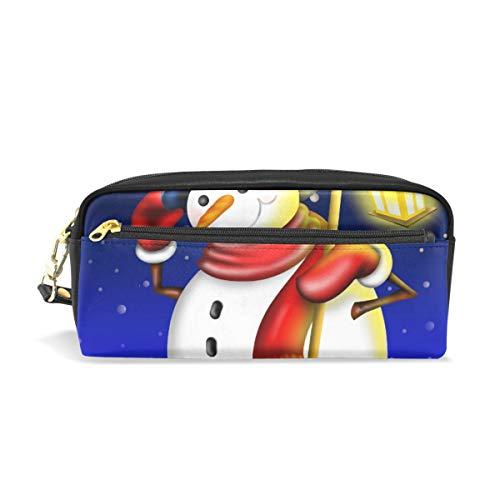 Stift Fall stationäre Winter Weihnachten niedlichen Schneemann Bleistift Taschen tragbare Tasche für Schule Kinder Kinder Kosmetiktasche Make-up Beauty Case
