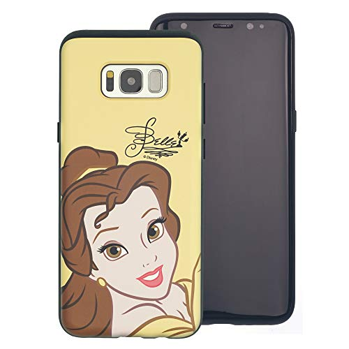 laxy S10 Plus, Disney Princess Layered Hybrid [TPU + PC] Bumper Cover für [ Galaxy S10 Plus (6,4 Zoll) ], Face Belle (Galaxy S10 Plus) ()
