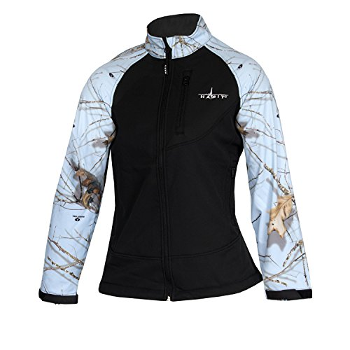 Habit Damen Softshelljacke, Mossy Oak Lifestyles Sky/Black, Large - Mossy Oak Camouflage Kleidung