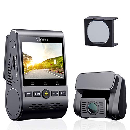 mera A129 Duo Dual Full HD 1080P Wi-Fi Front- und Rück Dash Cam Kompaktes Designmit mit GPS mit CPL Blendschutzfilter, IMX291 Starvis Sensor und Super Nachtsicht, 24h Parkmonitor ()