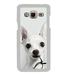 Dog with Glasses 2D Hard Polycarbonate Designer Back Case Cover for Samsung Galaxy J3 2016 :: Samsung Galaxy J3 2016 Duos :: Samsung Galaxy J3 2016 J320F J320A J320P J3109 J320M J320Y