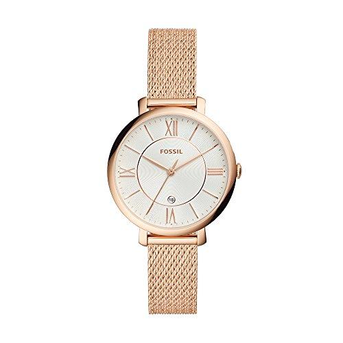 Fossil Damen Analog Quarz Uhr mit Edelstahl Armband ES4352