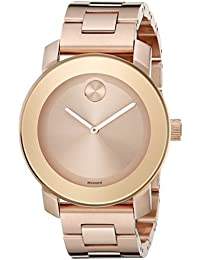 watches movado bold watches for men and women movado bold women s gold tone steel bracelet bracelet swiss quartz rose gold tone dial watch 3600342 b012fh7rag