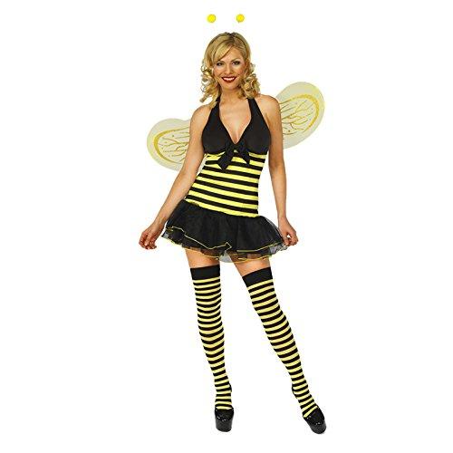adam & eesa Damen Kleid  - Miss Bumble Bee (Sexy Bee Bumble Kostüme)