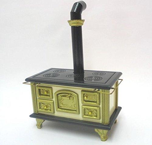 Preisvergleich Produktbild Mini Herd Ofen mit Ofenrohr Puppenhausmöbel Küche Miniatur 1:12