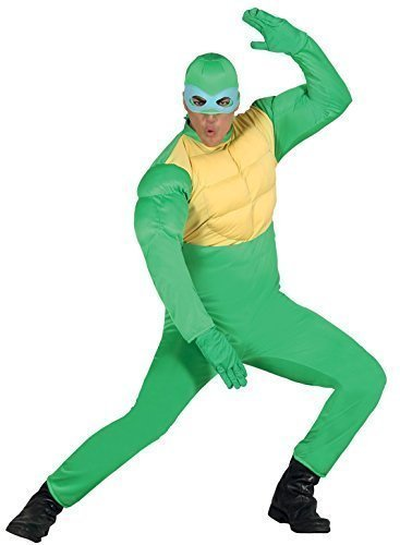 Super Kostüm Turtle Ninja - Herren Damen grün Ninja Turtle Super Hero Tier Halloween Kostüm Kleid Outfit groß