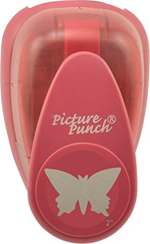 Vaessen Creative 21437-007 Motivstanzer groß Schmetterling, Jumbo Stanzer, Motivlocher, Ausstanzung 46,4 x 28,2 mm, Metall, purple, 12.7 x 8.5 x 6.7 cm