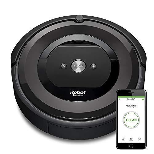 iRobot Roomba e5 aspiradora robotizada Sin bolsa Carbón vegetal 0,6 L - Aspiradoras robotizadas (Sin bolsa, Carbón vegetal, Alrededor, 0,6 L, Alfombra, Suelo duro, Laminado, Azulejos, 2 cm)
