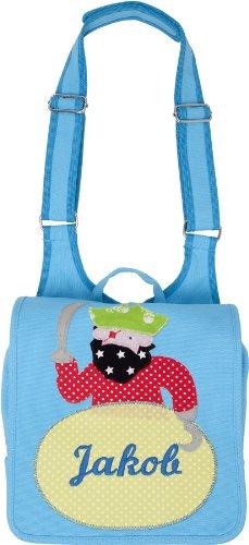 Kindergartentasche mit Namen und Kinderrucksack mit Namen (Motiv Apfel) Motiv Pirat