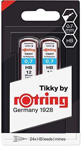 rOtring 1904837 Hochpolymer-Ersatzminen für Feinminenstifte, 0,7mm, HB, 2x12Minen