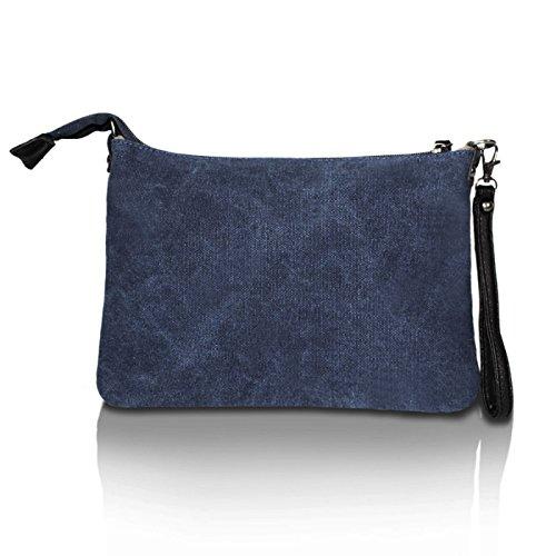 Glamexx24da donna borsa borsa a tracolla Umhaengetasche con stelle DunkelBlau