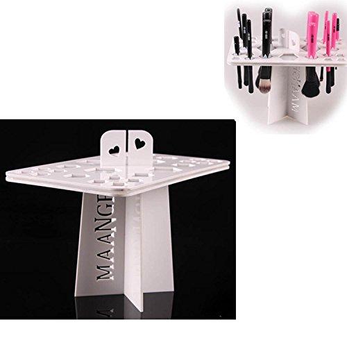 Vococal® Air Pliable Séchage Maquillage Pinceau Organisant Tour Arbre Rack Holder outil Cosmétiques Blanc