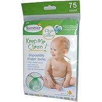 Summer Infant - Keep Me Clean ®Disposable Diaper Sacks 75 Pk