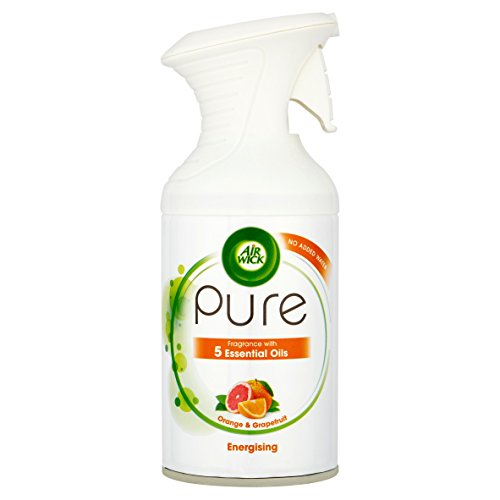 Air Wick Pure Orange & Grapefruit with Essential Oils Energising Air Freshener, 250 ml, Pack of 6