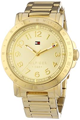 Tommy Hilfiger Liv - Reloj de cuarzo para mujer, con correa de acero inoxidable, color dorado