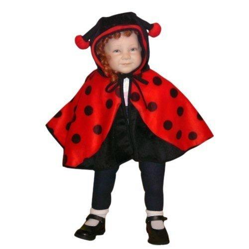 Marienkäfer-Kostüm als Umhang, An38/00 Gr. 74-98, für Babies und Klein-Kinder, Marienkäfer-Kostüme Marien-Käfer Kinder-Kostüme Fasching Karneval, Kinder-Karnevalskostüme, Kinder-Faschingskostüme (Froschkönig Kostüm Baby)