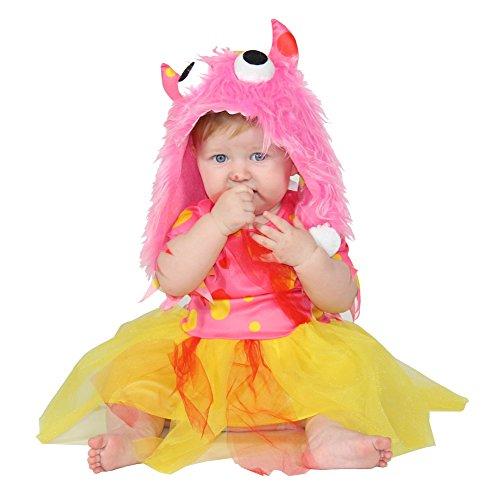Foxxeo Rotes Monster Kostüm für Mädchen Gr. 98 - 146, ()
