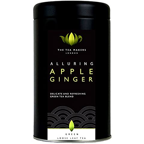 Alluring Apple and Ginger Loose Leaf Green Tea 100g Caddy