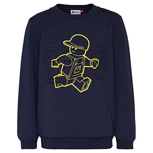 Lego Wear Jungen Lego Boy SIAM 328-SWEATSHIRT Sweatshirt, Blau (Dark Navy 590), Herstellergröße: 134