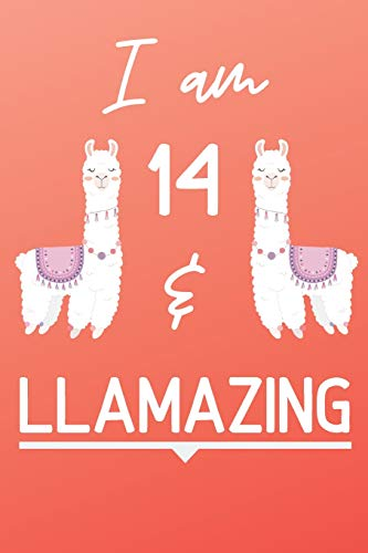 g: Cute Llama 14th Birthday Gift Journal / Notebook / Diary for 14 Year Old Girls & Boys ()