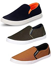 Tempo Men's Synthetic Loafers - Pack of 3