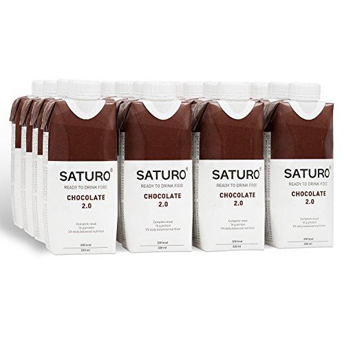 Substitut de Repas Complet Diététique Prêt à Consommer Riche en Protéines, Vitamines et Minéraux – Milk-Shake/Smoothie pour Perdre du Poids (Chocolat)