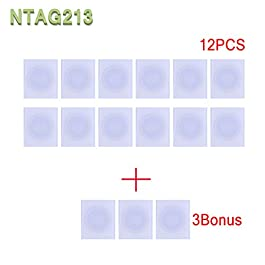 NFC NTag213 tag RFID PVC Stickers 13.56mhz for Samsung TagMo LG HTC Android Nokia Windows Sony All NFC-Enabled Smartphones and Devices (15PCS)