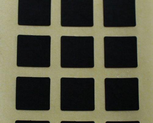 150 Etiquetas adhesivas para, 10 mm diseño de cuadros, negro con, pegatinas con palabra en inglés auto-adhesivos, formas distintas fases
