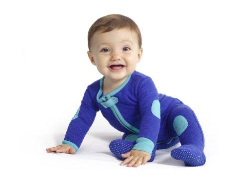Baby Deedee Baby sleepsie Footie Schlafanzüge, Pfau, 3–6Monate (Baumwolle Pajamas Footed)