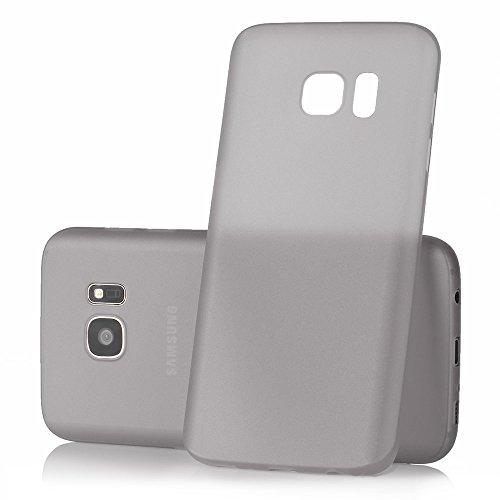 """Samsung Galaxy S7 Case """"Ultra Thin"""" - Ultra dünne und transparente Schutzhülle aus Polypropylen von MC24 in grau"""