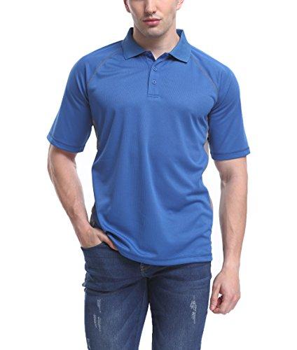 Moheen Herren Poloshirt Basic Polo Gr:-XXL Farbe:-Blau