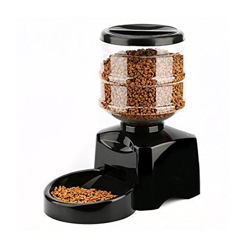 Petcute alimentatore automatico per cani distributore cibo automatico per cani dispenser cibo 5,5 litri distributori automatici per gatti animali domestici