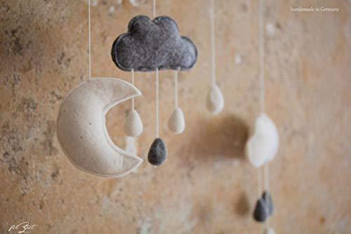 """Mobile""""dream"""", Filz Mobile, Kinderzimmerdeko, Wolken, Baby, Geschenk zur Geburt 60 cm"""