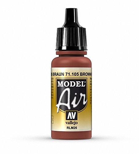 Vallejo Model Air Acrylfarbe, 17 ml Brown Rlm 26