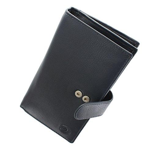 Mala Leather Collezione ORIGIN Portafoglio in Pelle con protezione RFID 3178__5 Blu marino Blu marino