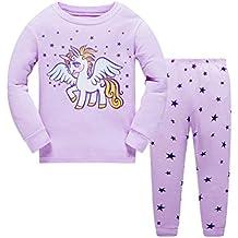 Seogva Conjunto Pijama Niño Niña Ropa De Dormir Pijama Algodon Manga Larga Niño Niña ...