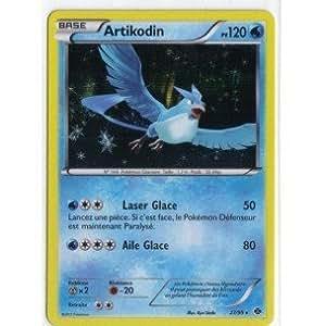 Carte Pokémon ARTIKODIN HOLO 27/99 NOIR & ET BLANC DESTINEES FUTURES RARE NEUF