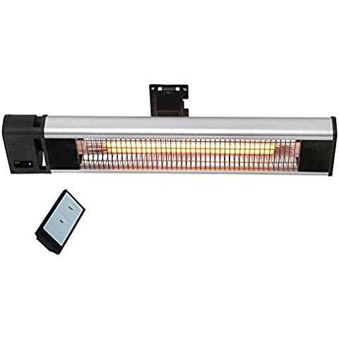 Traedgard® estufa eléctrica infrarrojo por la terraza, potencia eléctrica de 1800 vatio, ancho 74 cm, por la pared, 64562