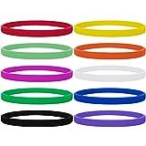 GOGO 1/12,7cm d'épaisseur Bracelets en Silicone, Sports, Fitness en Caoutchouc Bracelets, 100pcs/lot–Bulk Vente, Mixte, Coloris Assortis